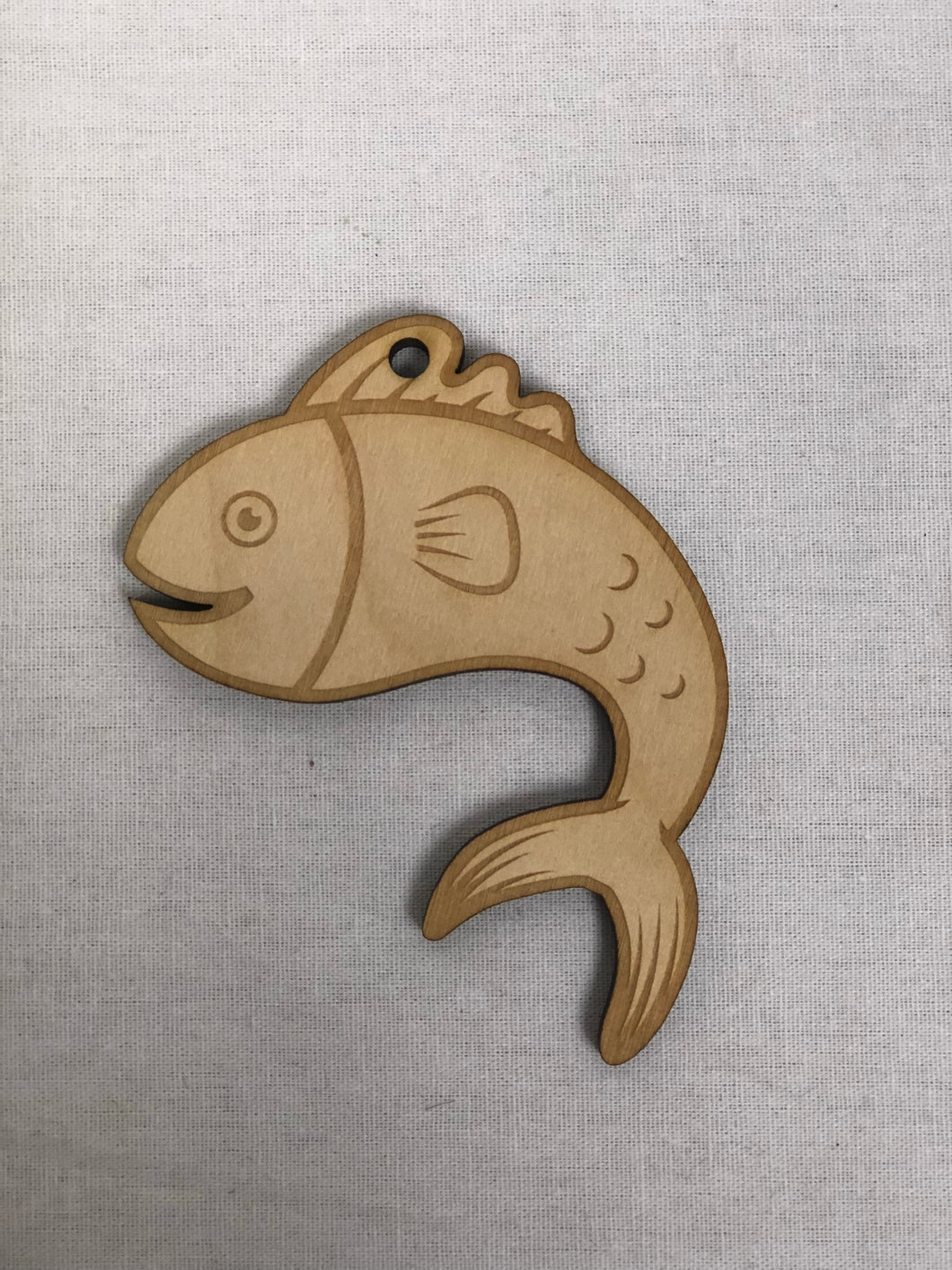 Cute Fish Ornament - Wood