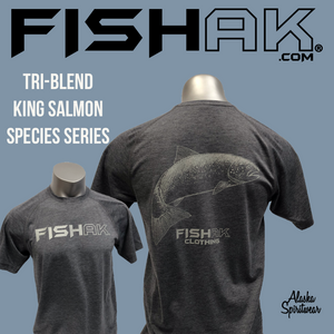 Fish AK - Species Collection - Salmon - T-Shirt - TriBlend