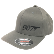Load image into Gallery viewer, 907 Gun (Small Logo) - Flex Fit Hat - Solid Back