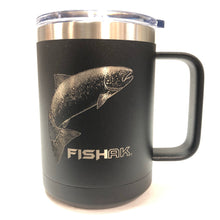 Load image into Gallery viewer, Salmon - Fish AK - 15oz Stainless Mug
