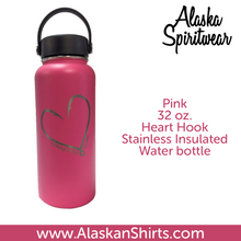 Load image into Gallery viewer, Heart Hook - 32oz Stainless Water Bottle
