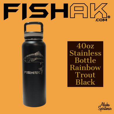 Fish AK - Rainbow Trout - 40oz Stainless Water Bottle