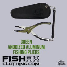 Load image into Gallery viewer, Fish AK Anodized Aluminum Fishing Pliers