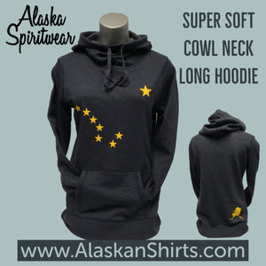 Big Dipper - Ladies Cowl Neck Hoodie