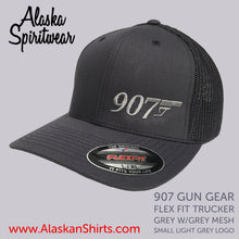 Load image into Gallery viewer, 907 Gun (Small Logo) - Flex Fit Hat - Mesh Back