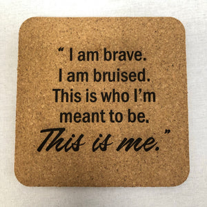 This is Me - Individual Coaster - Cork