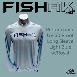 Fish AK - UPF 50 Performance Long Sleeve T-Shirt