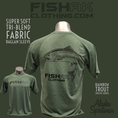 Fish AK - Species Collection - Rainbow Trout - T-Shirt - TriBlend