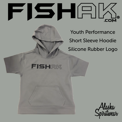 FISH AK - Performance Short Sleeve Hoodie - Youth