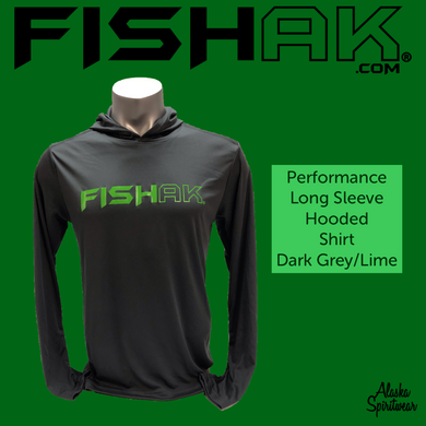 Fish AK - Performance Hooded Long Sleeve T-Shirt