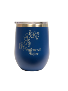 Forget-Me-Not - 12oz Wine Tumbler