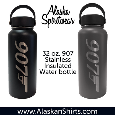 907 Gun - 32oz Stainless Water Bottle