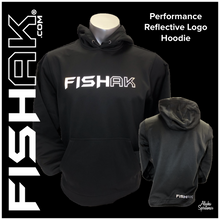 Load image into Gallery viewer, FISH AK - Reflective Logo Performance Hoodie