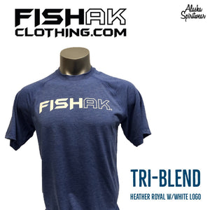 Fish AK - T-Shirt - Triblend - Adult
