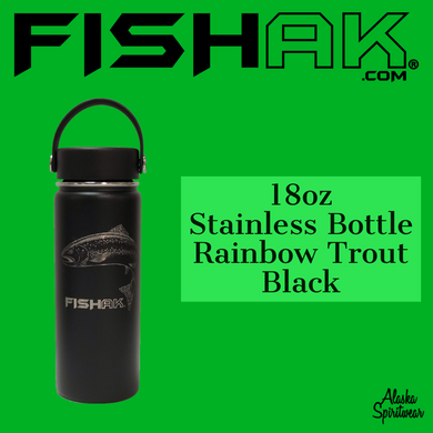 Fish AK - Rainbow Trout - 18oz Stainless Water Bottle