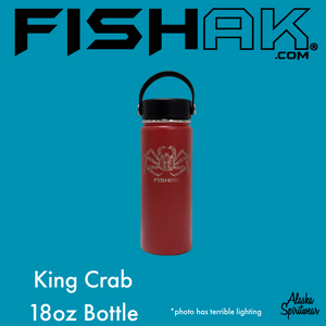 King Crab - Fish AK - 18oz Stainless Water Bottle
