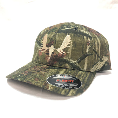 Moose Skull - Flex Fit Solid Back - Hat