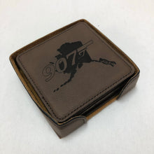 Load image into Gallery viewer, 907 w/Alaska - Leather Coaster Set