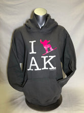 Load image into Gallery viewer, I Snowboard AK - Hoodie - Adult (CLEARANCE)