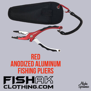 Fish AK Anodized Aluminum Fishing Pliers