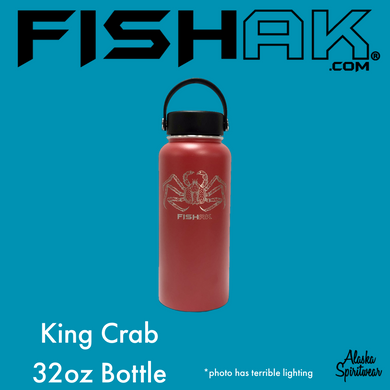 King Crab - Fish AK - 32oz Stainless Water Bottle