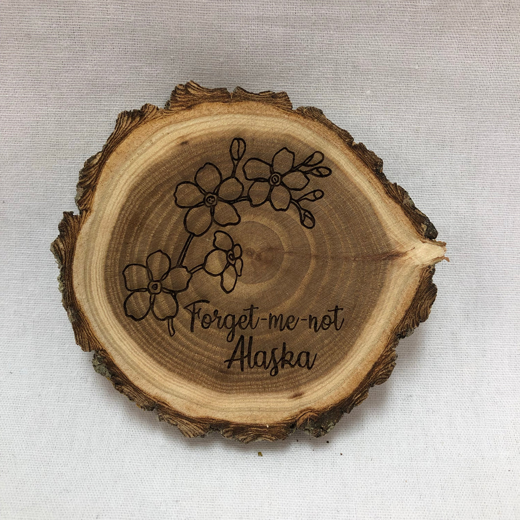 Forget-Me-Not - Wood Magnet