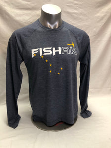 FISH AK Big Dipper with Fly - Long Sleeve T-Shirt - TriBlend
