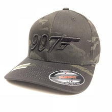 Load image into Gallery viewer, 907 Gun 3D - Flex Fit Hat - Solid Back