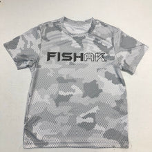 Load image into Gallery viewer, Fish AK - Hex Camo - Performance T-Shirt - Youth