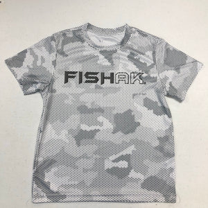 Fish AK - Hex Camo - Performance T-Shirt - Youth