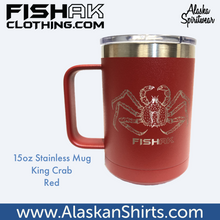 Load image into Gallery viewer, King Crab - Fish AK - 15oz Stainless Mug