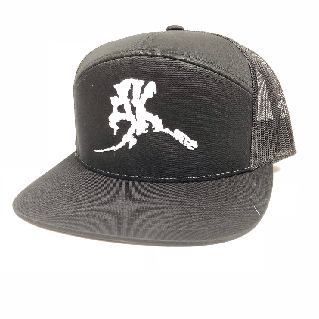 AK Letter (Big Logo) - 7 Panel - Hat