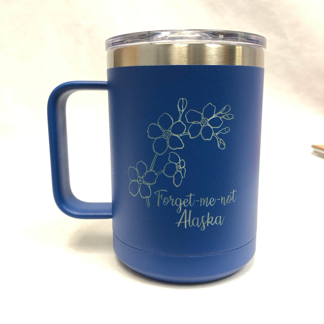 Forget-Me-Not - 15oz Stainless Mug