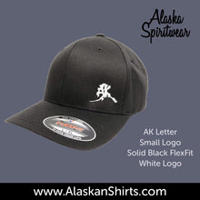 Load image into Gallery viewer, AK Letter (Small Logo) - Flex Fit - Solid Back- Hats