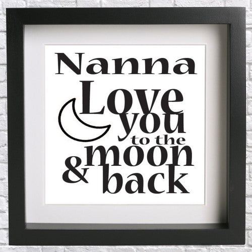 Nanna Love you to the moon & back - Vinyl Transfer - Craftwithvinyl ...
