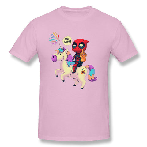 t-shirt deadpool licorne rose