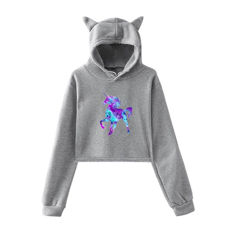 Sweat a Capuche Licorne