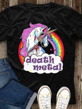 Tee Shirt Death Metal Licorne