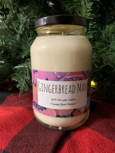 Gingerbread Man Candle - 16oz