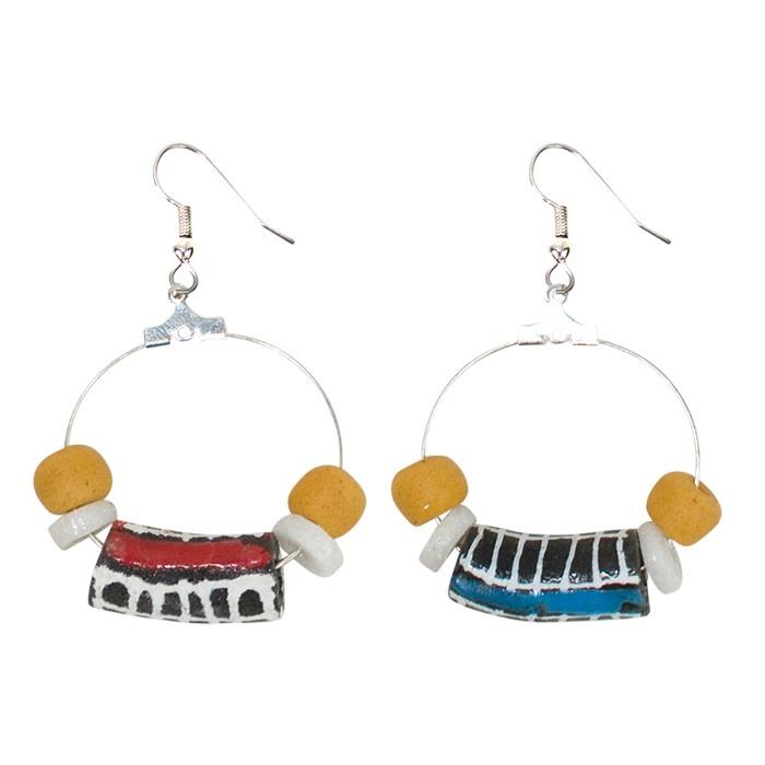 Okapi Earrings - Black & Red