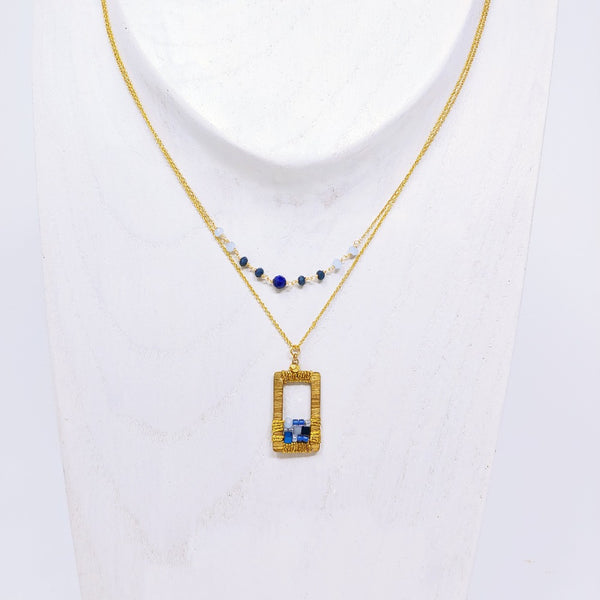 Draped Geometric Necklace