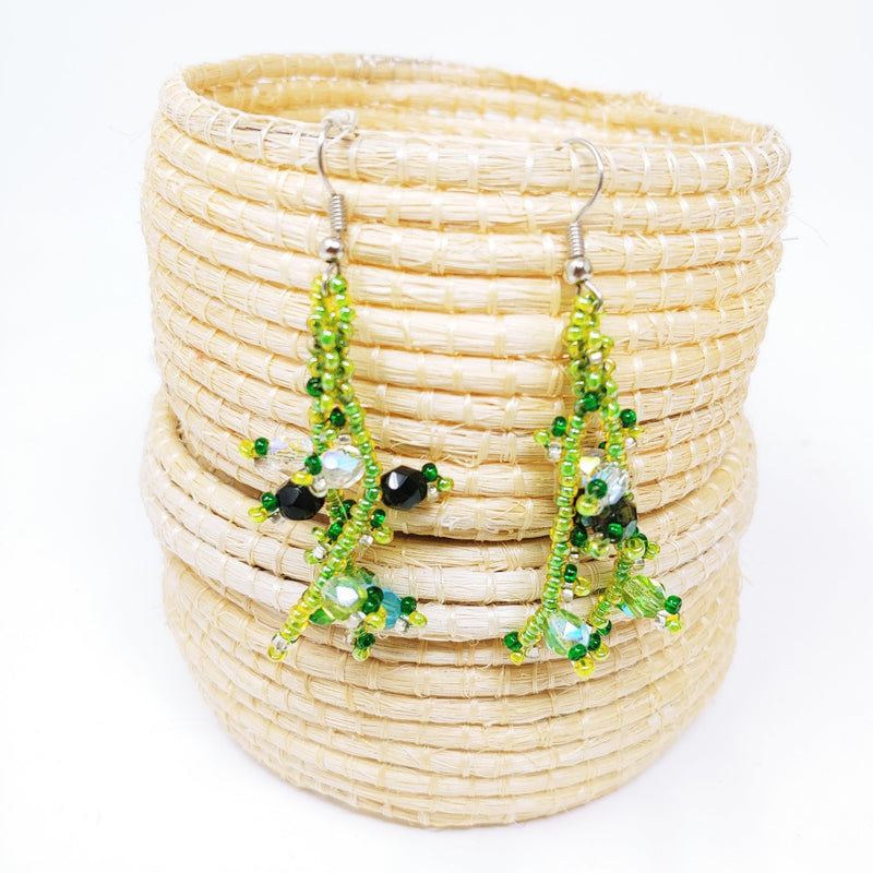 Beaded Twiggy Earrings