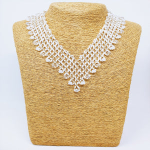 Beaded V-Necklace