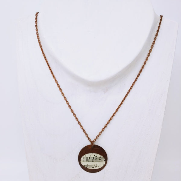 Copper Disk Necklace