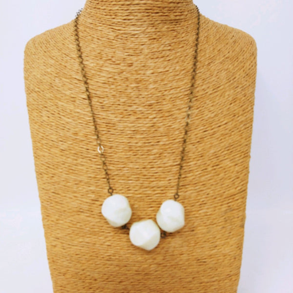 3 Soapstone Bead Necklace