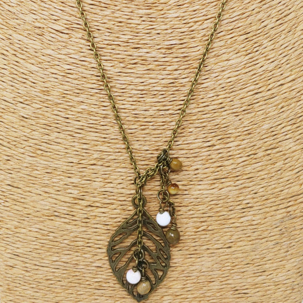 Leaf with Bead Necklace