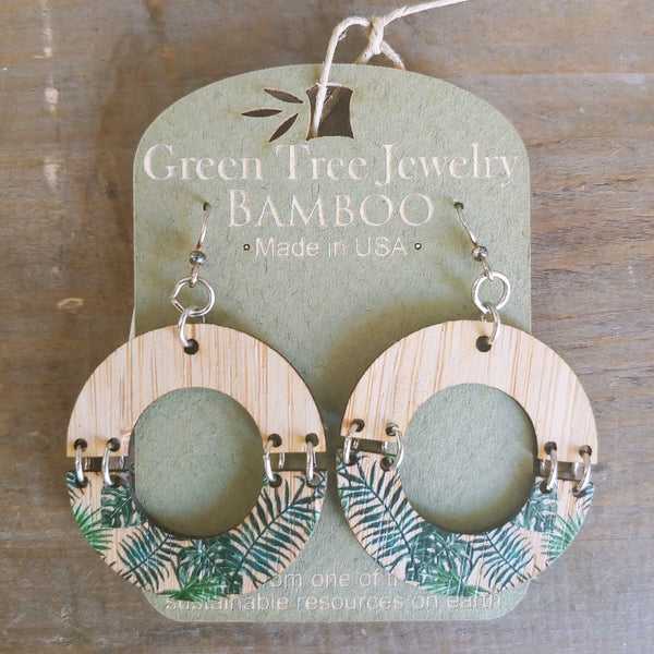 Bamboo Minimalistic Earrings