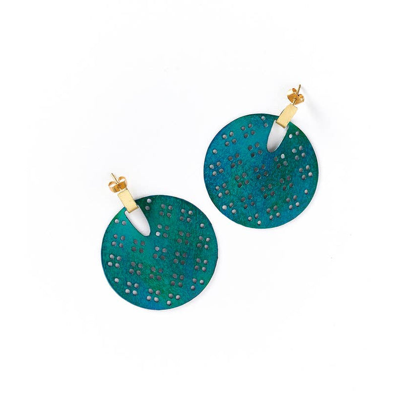 Chameli Earrings - Teal Blossom