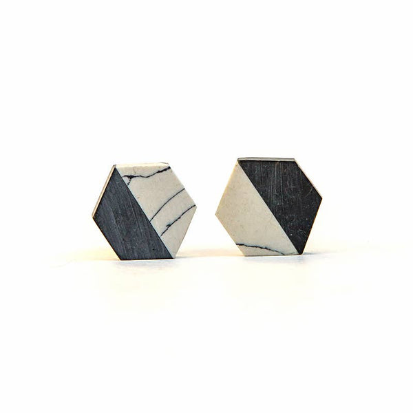 Balanced Geometry Stud Earrings