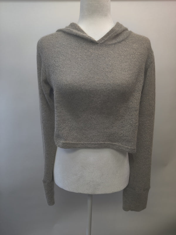 Acrylic Hooded Wrap Sweater